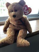 RARE Ty Banie Babies Fuzz the bear 1998
