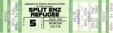 SPLIT ENZ 1980 TRUE COLOURS TOUR UNUSED FULL CONCERT TICKET / AUSTIN, TEXAS
