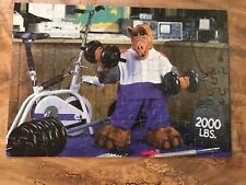 Vintage 1989 Alf Tv Show 100 Piece Jigsaw Puzzle Lifting weights Complete