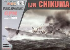 Japanese cruiser IJN Chikuma paper model 1:200 huge 101cm