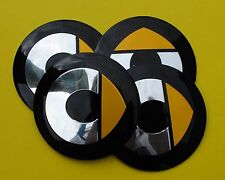 SMART Wheel Hub Caps Badge Emblem Stickers METAL 56mm HIGH QUALITY SET