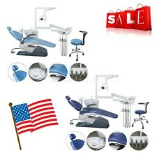 Dental Unit Chair Hard Leather Computer Controlled Dc Motor Amp Stool Kit 2 Colors