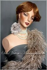 Rare Vintage Schlppi Bust Hindsgaul Wig Mannequin Head Torso Art Collectibles