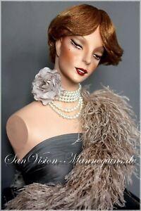 Rare Vintage SCHLÄPPI Bust + HINDSGAUL Wig Mannequin Head Torso Art Collectibles