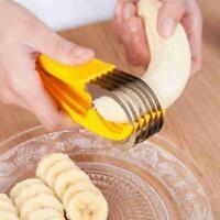 Neu Banana Banana Bananenschneider aus Edelstahl Gelb R7Z7