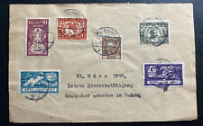 1929 Poznan Poland Front Cover To German Officials Locally Used
