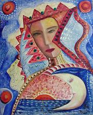 """MARIA MURGIA - """"E' solo moderno"""" - Olio su tela cm 50x40"""