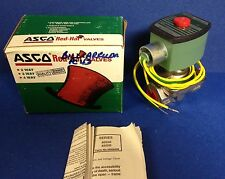 "New 2 Way Asco Red Hat 1/2"" Solenoid Valve Catalog # HT8210G30V ~ 12/DC NO"