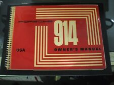 914 OWNERS MANUAL porsche 914 USA version new 42-60-1101-1 4626.23 NOS original