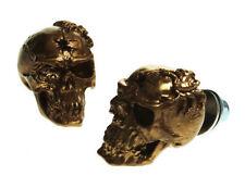 Cráneo de oro número Matrícula Pernos x2 Ford GM Hotrod Bicicleta Personalizado Varilla de rata
