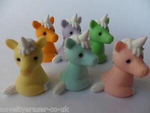 Novelty Japanese Animal Puzzle Eraser Rubbers - IWAKO Kawaii Unicorn Erasers