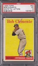 1958 Topps Set # 52 Roberto Clemente White Team Letters PSA 5