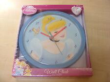 pour enfants plastique CHAMBRE PRINCESSE DISNEY Horloge murale 25cm - bleu bord