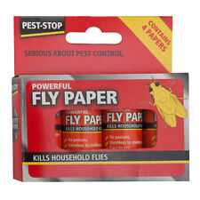 3 Packs of 4 (12) Pest Stop Sticky FLY TRAP PAPERS Kills   1514-3