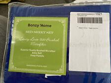 New listing Bonzy Home 6 Piece Bed Sheet Set 1800 Bedding 100% Microfiber- Deep Pocket, Hypo
