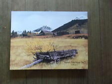 Ashcroft Silver Mining Town  Canvas Print Folk Artist  Billy Jacobs 12 x 16""