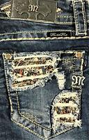 New Womens Miss Me Bootcut Signature Denim Jeans 26 27 28 29 31 32 33 34 36