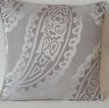 "Emperor Paisley dove grey Cushion Cover 16""piped Both Side"