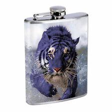 Blue Tiger Em1 Flask 8oz Stainless Steel Hip Drinking Whiskey