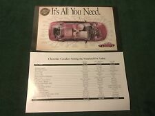 NEW 1996 CHEVROLET CHEVY CAVALIER FACT SHEET  (NH)