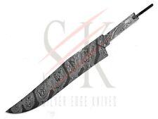 Acero Damasco Bowie Hoja en Blanco personalizado hecho a mano cuchillo haciendo Twist BWB-14-10