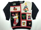 Westbound Womens Ugly Christmas Sweater Multicolor Long Sleeve Crew Neck M