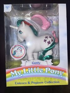 My Little Pony Unicorn And Pegasus 35th Anniversary GUSTY Retro Re-release NEW