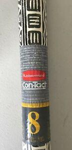 Vtg 1994 RUBBERMAID ConTact Shelf Liner Paper 24ft~ORIGINS~Black White ~New!