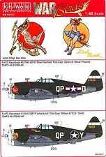 Kits World Decals 1/48 REPUBLIC P-47D THUNDERBOLT Miss Plainfield & Little Butch