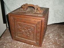 vintage carved wood bone MAH JONGG jong Mahjond majiang chinese GAME