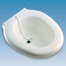Bidé SANITARIO Acoplable al Inodoro de Plástico Medidas: 38x41,5x14cm con TAPÓN