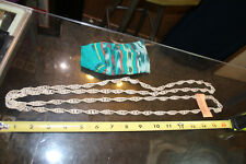 """w/ Teal striped Pouch Jsh 64""""+ Silverplated Copper Necklace from Guatemala"""
