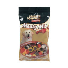 MUNCH & CRUNCH MEATY MIX DOG SNACKS 140G ASSORTED TREATS