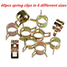 60x 6Sizes Car Auto Spring Clip Fuel Oil Water Hose Pipe Tube Clamp Fastener