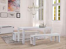 Esstische Pinie Holz Tisch Massiv Weiss 70 80 90 100 115 120 130 140 150 160