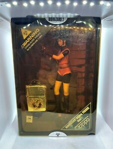 ZIPPO Limited Edition RESIDENT EVIL Biohazard Claire Redfield Lighter & Figure