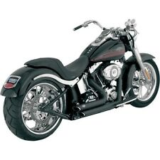 Shortshots Staggered Exhaust System Vance & Hines Black 47221