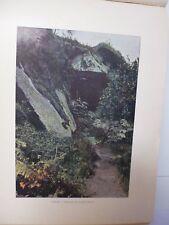 SUISSE BRETONNE/ Gravure 19° in folio couleur /HUELGOAT. LA CHAMBRE D'ARTUS