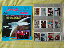 Star Trek : The Next Generation Complete 240 Sticker Set & Un Used Album