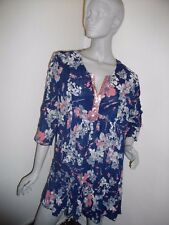 NEW * PAPAYA * NAVY BLUE / PINK CRINKLE FLORAL FLOATY TUNIC  SIZE 18 RRP £29
