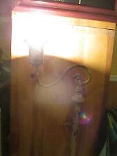VTG.ORNATE/ART DECO STEEL/BRASS BRIDGE FLOOR LAMP (Steam Punk)