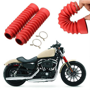 2Pcs Front Rubber Gaiter Boots Fork Shock Absorber Dust Cover Kit For Motorcycle