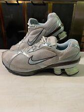Nike Womens Air Shox iD 324662-131 White Blue Brown Womens Gym Running Shoes 11
