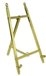 """Mini Display Easel Brass Photo Picture Frame Tabletop Stand 6""""-18"""" Metal"""