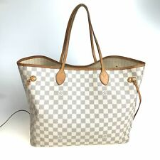 Louis Vuitton Damier Azur Neverfull GM open tote bag N41360 Used 755-9.Z