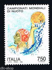 ITALIA UN FRANCOBOLLO CAMPIONATI MONDIALI NUOTO PALLANUOTISTA 1994 nuovo**