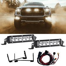 """RIGID Grille LED Light Kit for Ford F150 Raptor Pair 6"""" SR-Series LED Light Bars"""