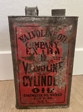 """Vintage Antique """"Valvoline Oil Company Extra"""" Motor Oil 1 Gallon Can"""