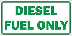 Sticker decal car rent helmet door bumper diesel fuel only green