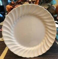 SHEFFIELD BONE WHITE SWIRL DESIGN USA DINNER PLATES - SET OF 2